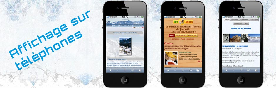 Sites Web sur smartphones