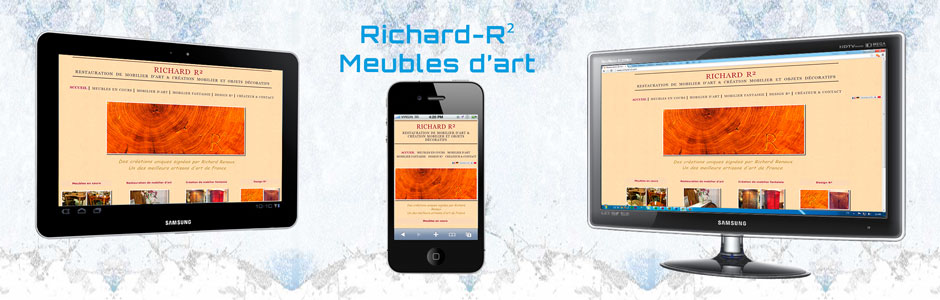 Site Web de Richard R², meubles d'art